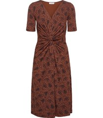 dress jurk knielengte bruin rosemunde