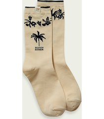 scotch & soda palm tree cotton blend socks