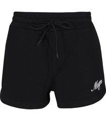 msgm black cotton track shorts