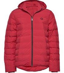hooded jacket fodrad jacka röd fred perry