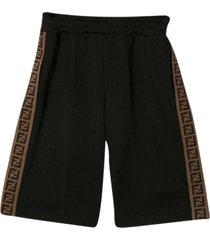 fendi black shorts