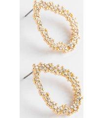 aviie crystal teardrop earrings - crystal