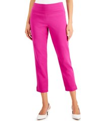 jm collection charmed straight-leg cropped pants, created for macy's