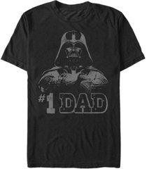 fifth sun men's star wars vader 1 dad retro father's day short sleeve t-shirt