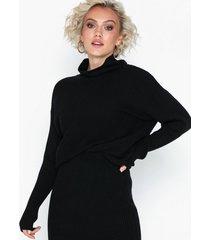 vila violiv knit high neck l/s top/l stickade tröjor