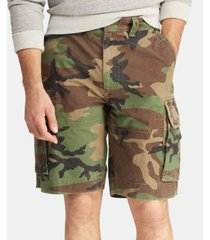 "polo ralph lauren men's big & tall relaxed fit 10"" camouflage cotton cargo shorts"