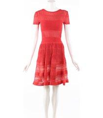 antonino valenti cleofe orange silk short sleeve dress orange sz: s