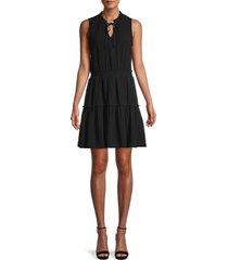 supply & demand women's porter shirred dress - white - size l