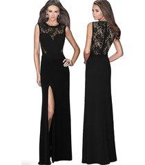 vestido grupo tabu 592b - negro con encaje
