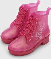 bota coturno grendene kids infantil barbie rosa