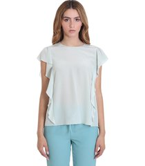 red valentino blouse in green silk