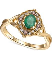 le vian multi-gemstone (1/2 ct. t.w.) statement ring in 14k gold