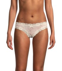 ava & aiden women's printed lace-trim thong - snake - size xl