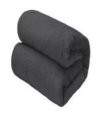 cobertor casal camesa flannel loft cinza escuro