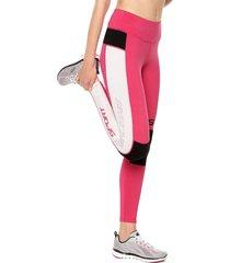 leggings rosa-blanco-negro skechers
