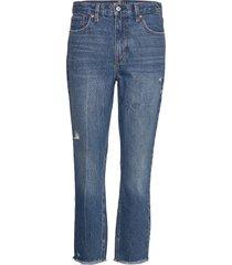 dark wash mom jeans raka jeans blå abercrombie & fitch
