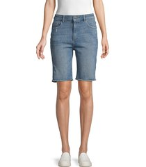 dl1961 premium denim women's jerry vintage denim bermuda shorts - medium blue - size 24 (0)