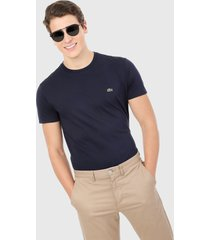 camiseta azul navy lacoste