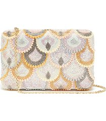 'seamless scallops' crystal pavé clutch