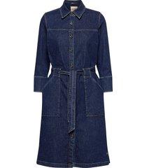 selby denim dress jurk knielengte blauw mos mosh