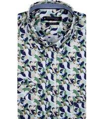giordano korte mouwen overhemd groen geprint