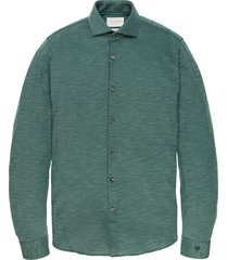cast iron csi196616 6431 long sleeve shirt jersey slub pique sea moss groen