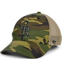 '47 brand colorado rockies camo branson mvp cap