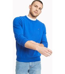 tommy hilfiger men's essential crewneck sweater cobalt - xl