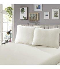 fronha para travesseiro confort lisa 1 peça branco - sbx têxtil