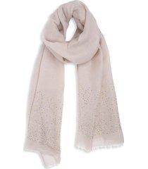 bindya women's embellished scarf - tan