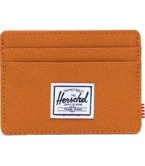 men's herschel supply co. charlie rfid card case - orange
