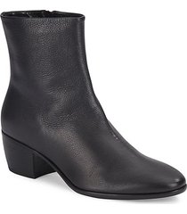 cuban heel leather bootie