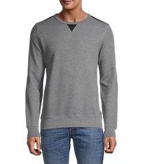 cotton-blend knit sweater