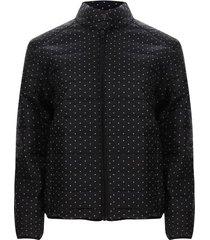 chaqueta mujer lunares color negro, talla l