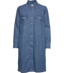 selma dress going steady jurk knielengte blauw levi´s women