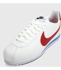 tenis lifestyle blanco-azul-rojo nike classic cortez,