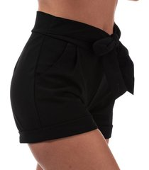 brave soul womens tie up waist shorts size 10 in black