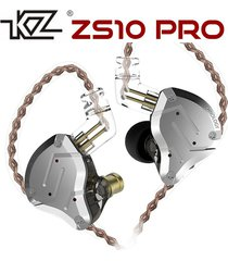 audífonos kz® zs10 pro monitores in ear alta fidelidad 5 drivers sin micrófono - negro