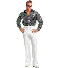 buyseasons men's psychedelic swirl disco shirt