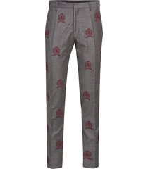 hcm suit sep pants embroidery kostymbyxor formella byxor grå hilfiger collection