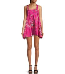 free people women's let the sun shine in floral dress - light combo - size m