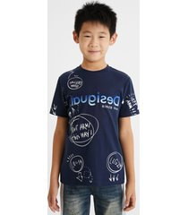 100% cotton bolimania t-shirt - blue - 9/10