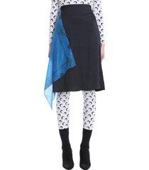 marine serre skirt in blue polyester