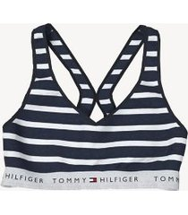 tommy hilfiger women's essential stripe bralette navy blazer - m