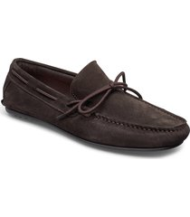 slhsergio drive suede shoe b loafers låga skor brun selected homme
