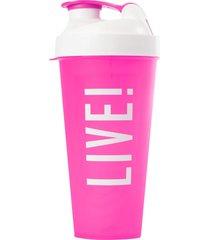 coqueteleira live! workout time pink . - rosa - feminino - dafiti