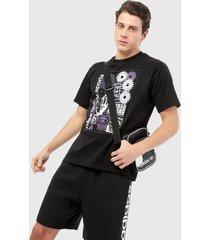 camiseta negro-morado adidas originals handdrip