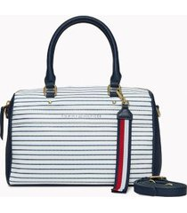 tommy hilfiger women's stripe satchel navy/white -