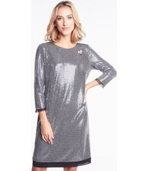 srebrna sukienka samanta