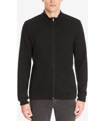 boss men's reversible full-zip cotton sweater